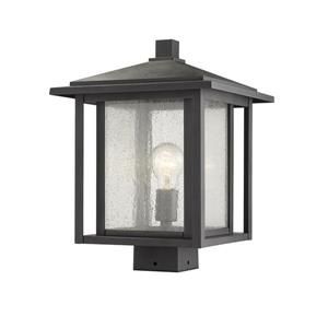 Z-Lite Aspen Outdoor Post Mount Fixture - 1 Light - Black