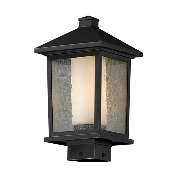 """Luminaire extérieur pour poteau Mesa, Bronze, 8.12""""x14"""""""