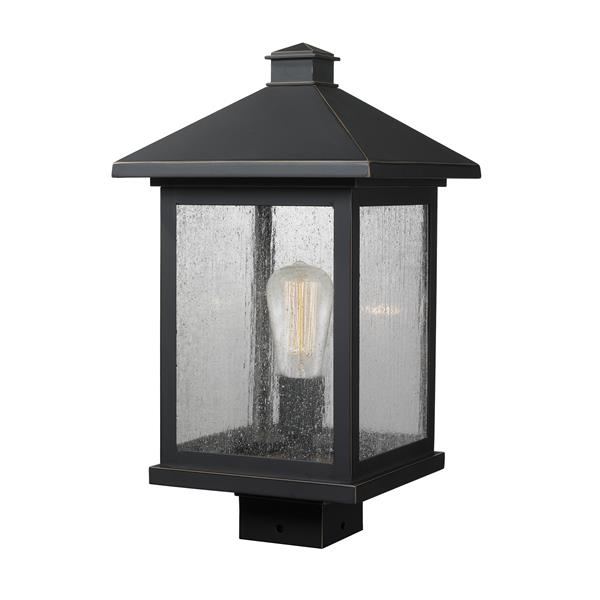 Z-Lite Portland Post Mount Light - 1 Light - Oil Rubbed Bronze