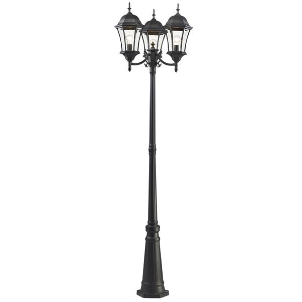 Z-Lite Wakefield Outdoor Post Light in Black - 25-in x 25-in x 90-in