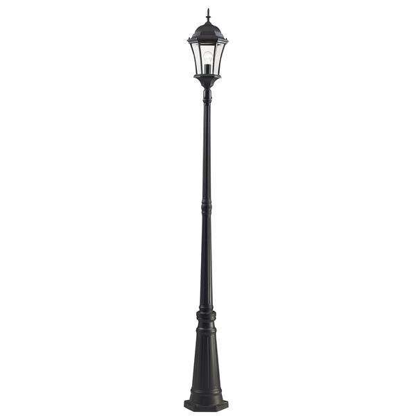Z-Lite Wakefield Outdoor Post Light - Black - 10-in x 10-in x 90-in