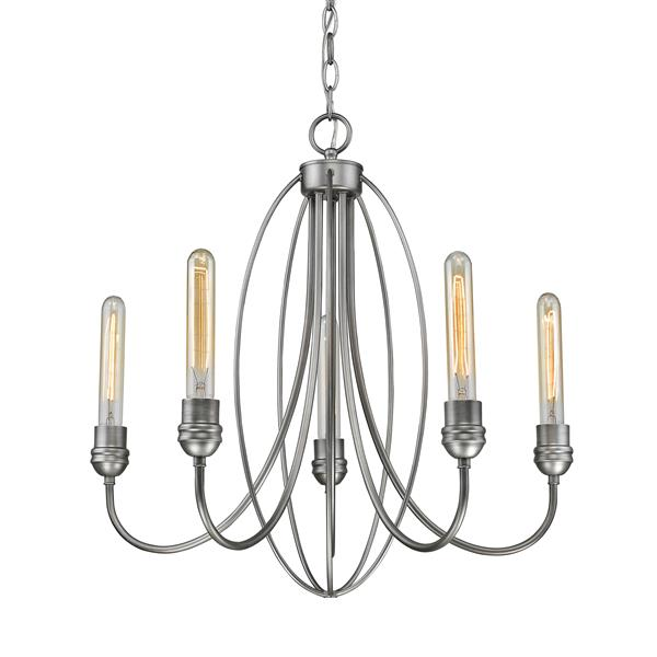 Z-Lite Persis 5-Light Old Silver Chandelier