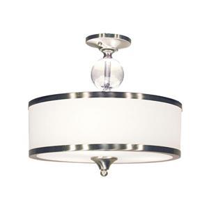 Semi-plafonnier Cosmopolitan, 3 lumières, Nickel Brossé