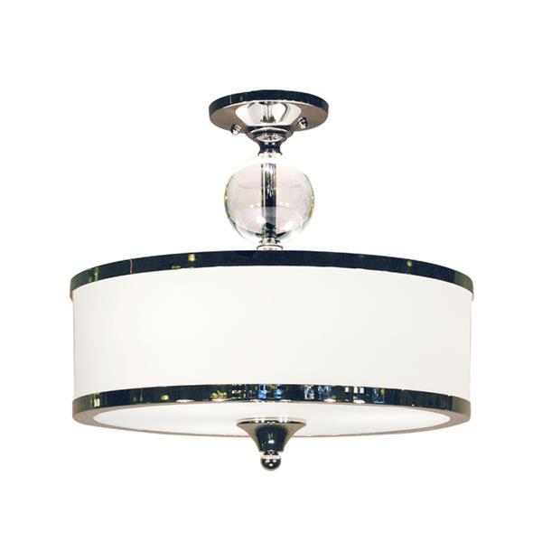 Semi-plafonnier Cosmopolitan, 3 lumières, Chrome