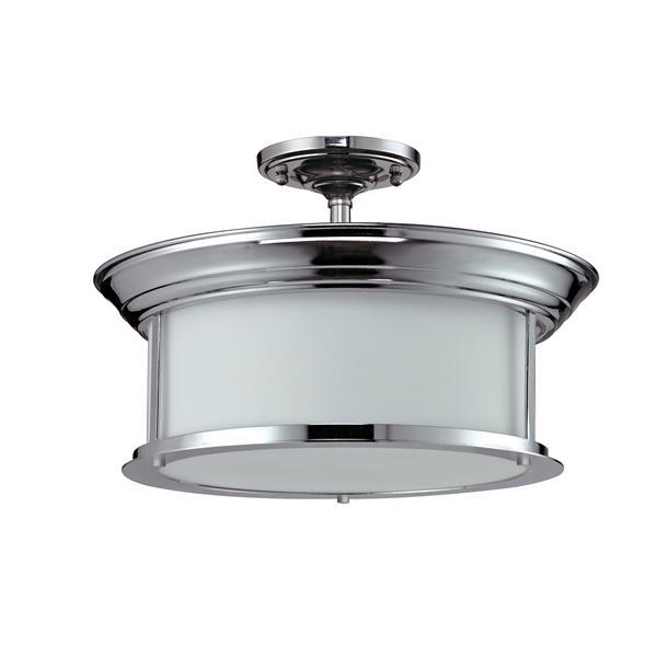 Semi-plafonnier Sonna,  3 lumières, Chrome