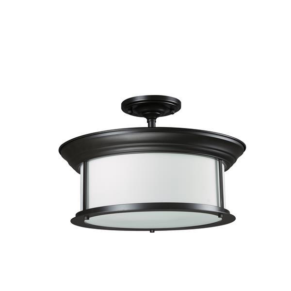 Z-Lite Sonna 3-Light Bronze 15.5-in x 15.5-in x 10-in Semi-Flush Mount
