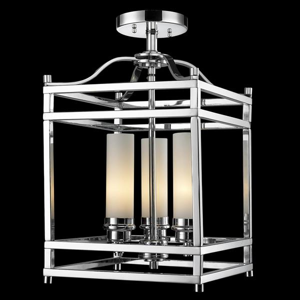 Semi-plafonnier Altadore, 3 lumières, Chrome