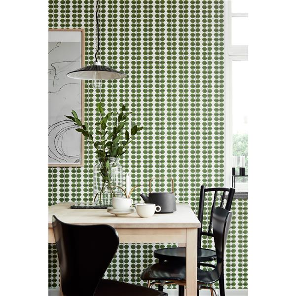 Brewster Wallcovering Berså 21-in Green Paste The Wall Wallpaper