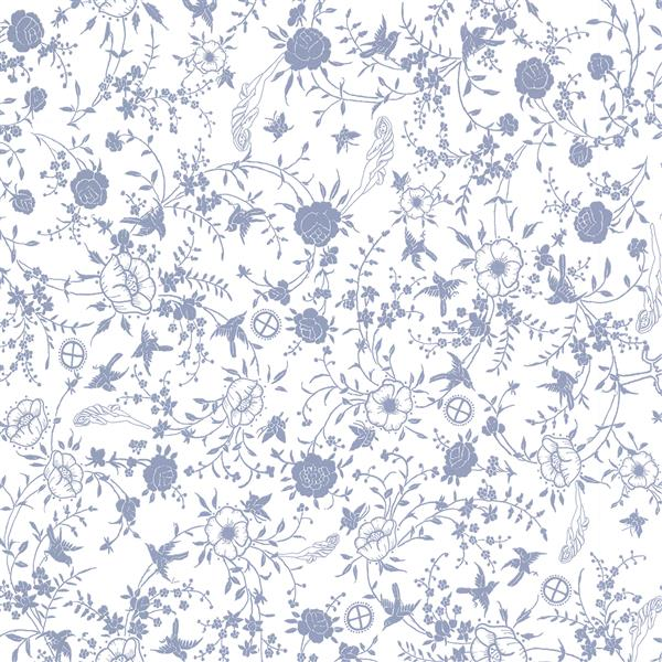 "Brewster Wallcovering Giulia 20.5-in Blue Wallpaper - 20.5"" - Blue"