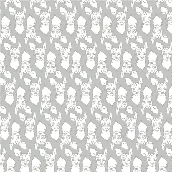 Brewster Wallcovering Grey Patterned Non-Woven 20.5-in Oh Deer Unpasted Wallpaper