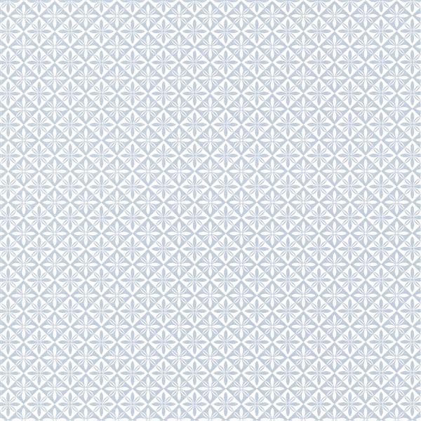 """Papier peint géométrique, 20,5"""", bleu"""