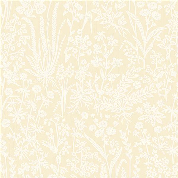 Brewster Wallcovering Brianne 20.5-in Yellow Botanical Wallpaper