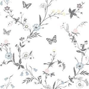 Brewster Wallcovering Jamie 20.5-in White Botanical Unpasted Wallpaper