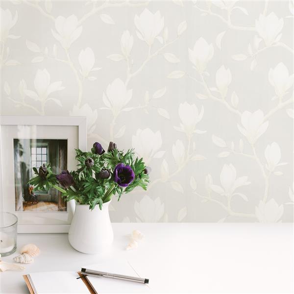 Brewster Wallcovering Grandiflora 20.5-in Grey Unpasted Wallpaper
