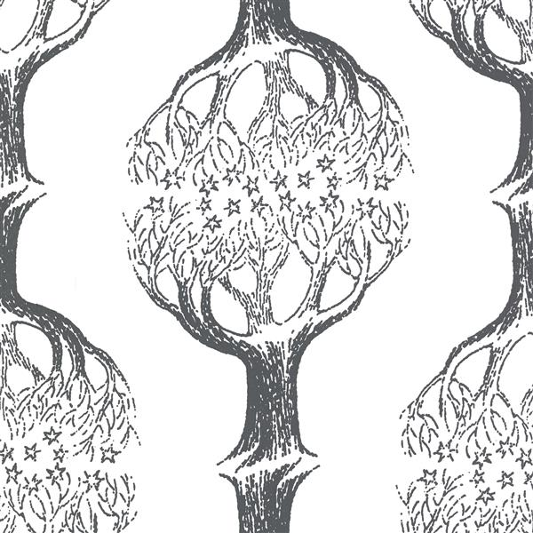 Brewster Wallcovering Celeste Tree 20.5-in Grey Paste The Wall Wallpaper
