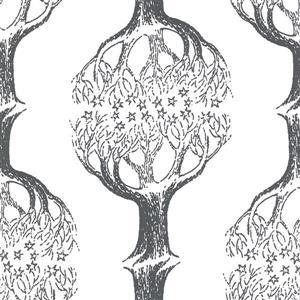 """Papier peint arbre Celeste, 20,5"""", gris"""
