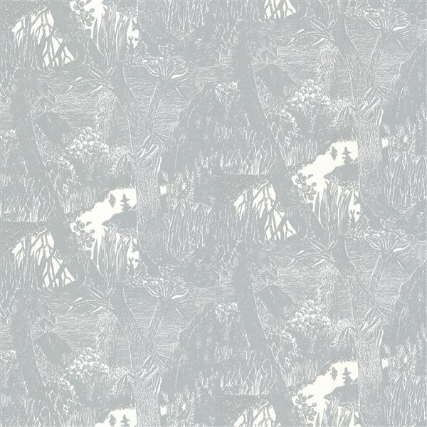 "Papier peint Moominvalley, 20,5"", gris"
