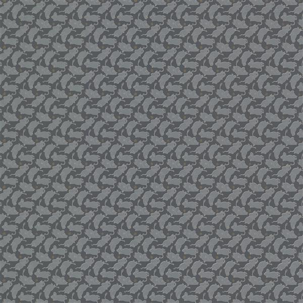 Brewster Wallcovering Gray Moomintroll Non-Woven Unpasted Wallpaper