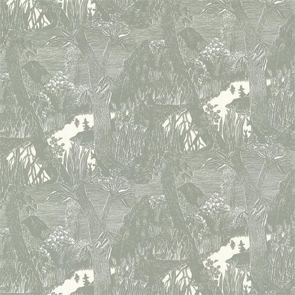 Brewster Wallcovering Dark Gray Moominvalley Non-Woven Unpasted Wallpaper