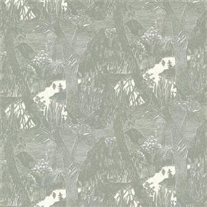 """Papier peint Moominvalley forêt, 20,5"""", gris"""