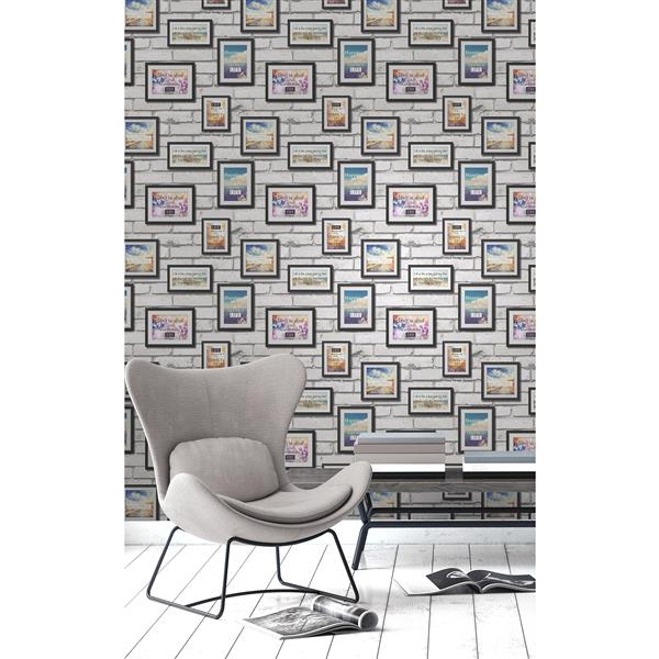 Brewster Wallcovering Frames 56.4 sq ft Multicolor Wallpaper