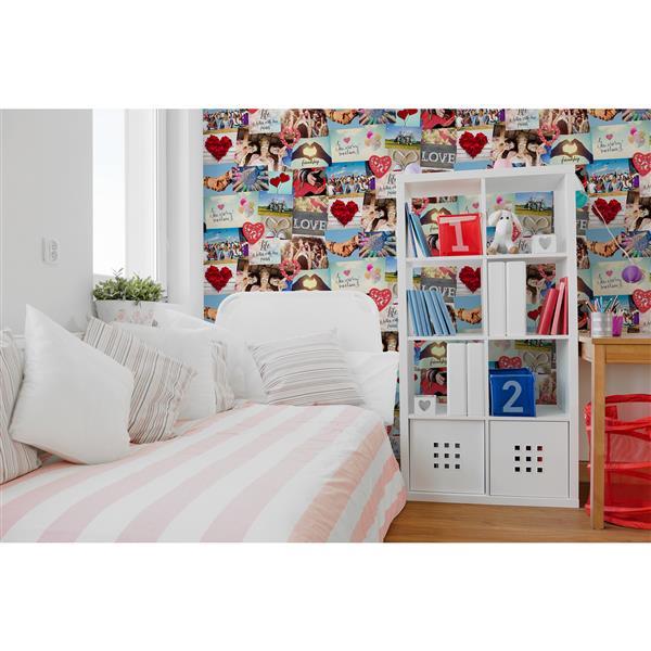 """Papier peint Cara collage, 20,5"""", multicolore"""