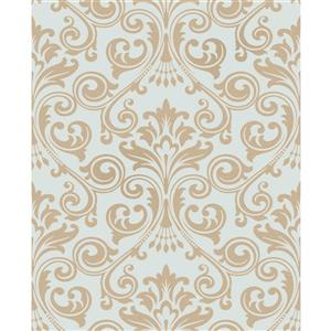 Brewster Wallcovering Wentworth Damask 56.4 sq ft Blue Wallpaper