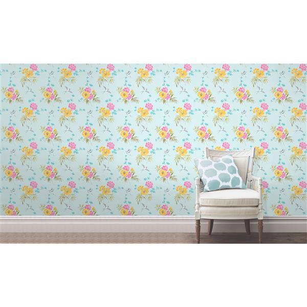 Brewster Wallcovering Riva 20.5-in Blue Wallpaper