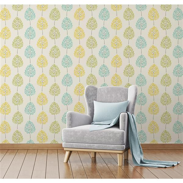 Brewster Wallcovering 20.5-in Cream Alder Tree Wallpaper