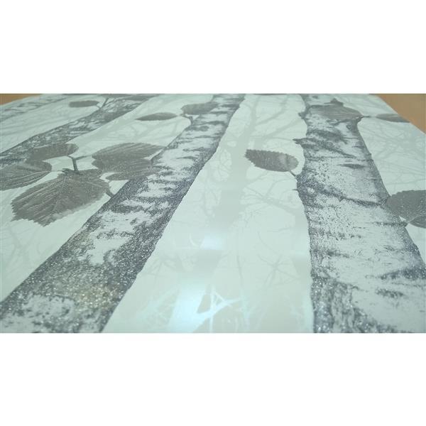 """Papier peint à paillettes, 20,5"""", gris"""