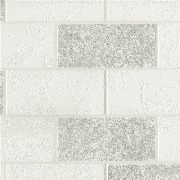"""Papier peint Ceramica, 20,5"""", blanc"""