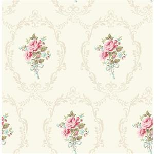 Brewster Wallcovering Cameo 20.5-in White Wallpaper