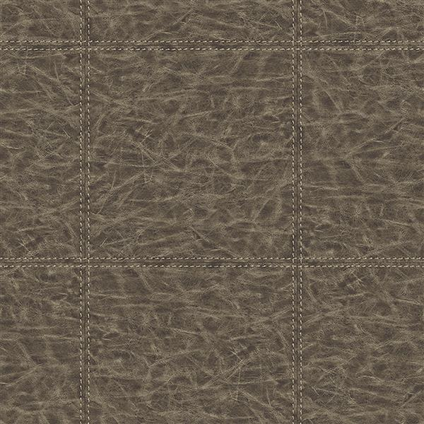 Brewster Wallcovering Brown/Brown Leather Wallpaper 20.5-in