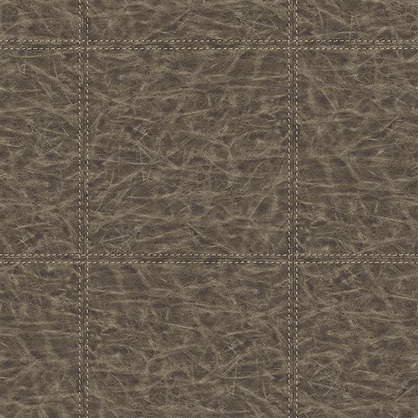 "Papier peint cuir, 20,5"", brun"