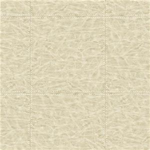 Brewster Wallcovering Taupe/Grey Leather Wallpaper 20.5-in