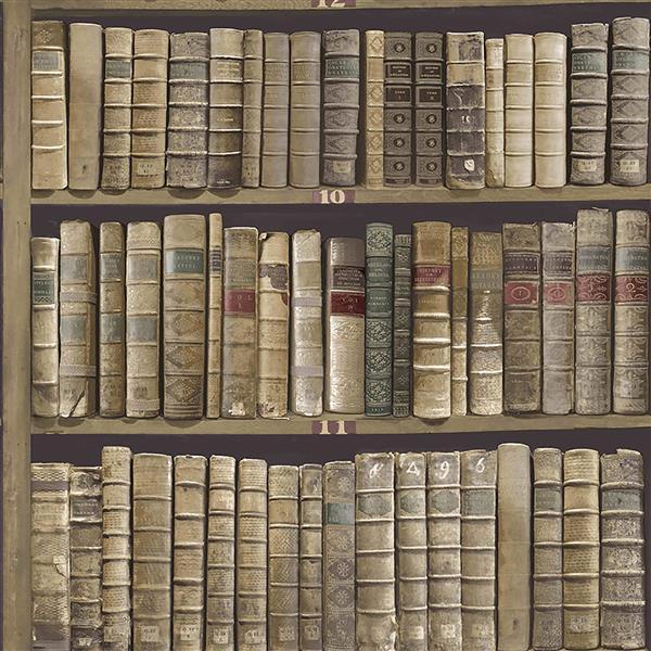 Brewster Wallcovering Library 56.4 sq ft Green Wallpaper