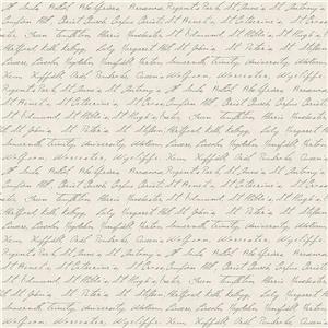 "Papier Peint Calligraphie, 20,5"", brun"