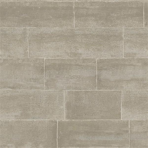 Brewster Wallcovering Grey/Grey Clipsham Wallpaper 20.5-in