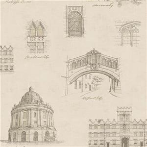 """Papier peint illustration, 20,5"""", or"""