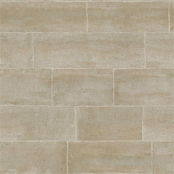 """Brewster Wallcovering Taupe/Grey Clipsham Wallpaper - 20.5"""" - Gray"""