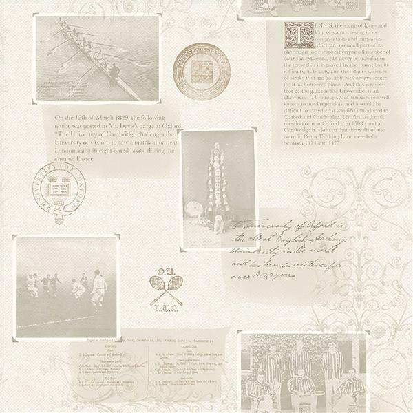 Brewster Wallcovering 20.5-in Grey Archive Wallpaper