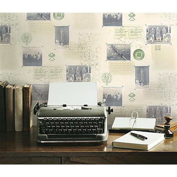 Brewster Wallcovering 20.5-in Beige Archive Wallpaper