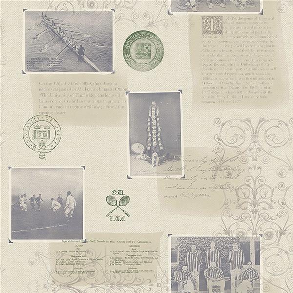 """Papier peint Archive, 20,5"""", beige"""