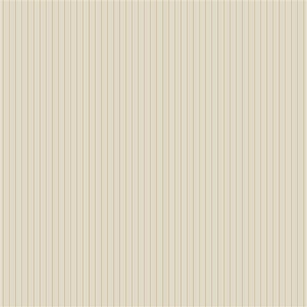 Brewster Wallcovering Beige Stripes Non-Woven Paste The Wall 20.5-in Frideswide Stripe Wallpaper