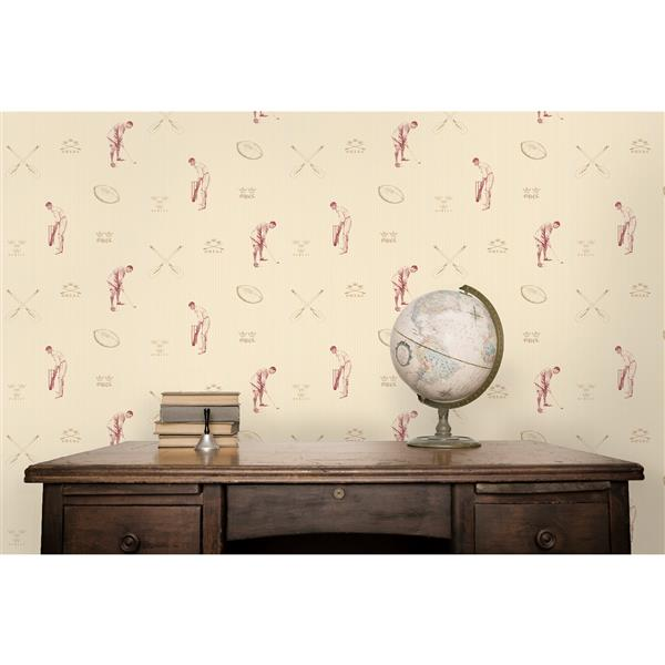 Brewster Wallcovering Red Sport 20.5-in Unpasted Wallpaper