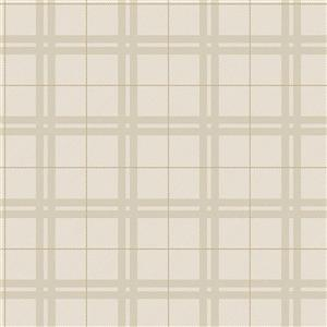 Brewster Wallcovering 20.5-in Brown Hilary Unpasted Wallpaper