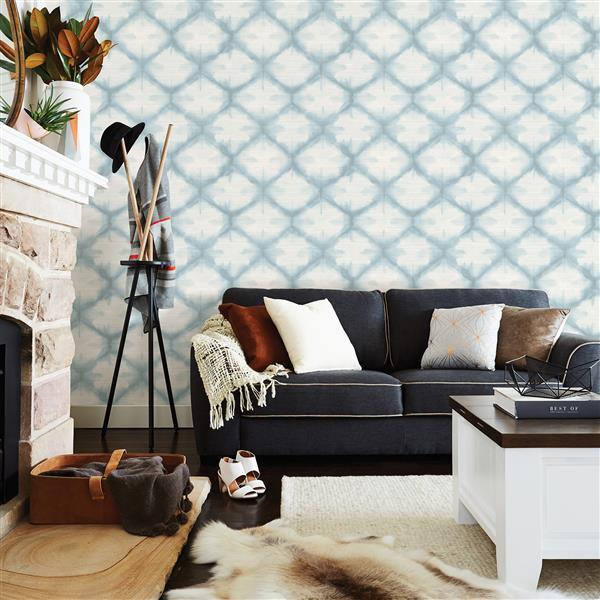 A-Street Prints Zanzibar 56.4 sq ft Blue UnPasted Wallpaper