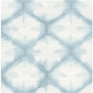 "Papier peint Zanzibar, 20,5"", bleu"