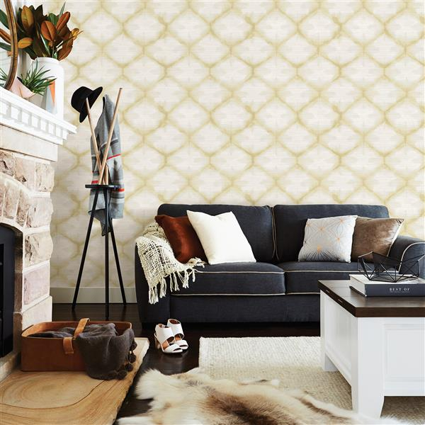 A-Street Prints Zanzibar 56.4 sq ft Gold UnPasted Wallpaper