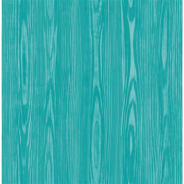 A-Street Prints Illusion 20.5-in Blue Faux Wood Unpasted Wallpaper